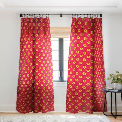 Evgenia Chuvardina Plum Single Panel Sheer Curtain - 50 X 84