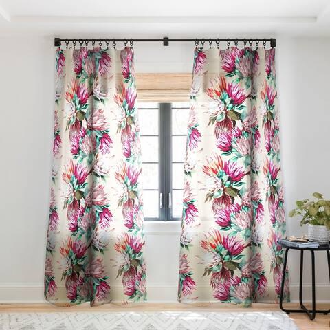Marta Barragan Camarasa King proteas bloom 02 Single Panel Sheer Curtain - 50 X 84