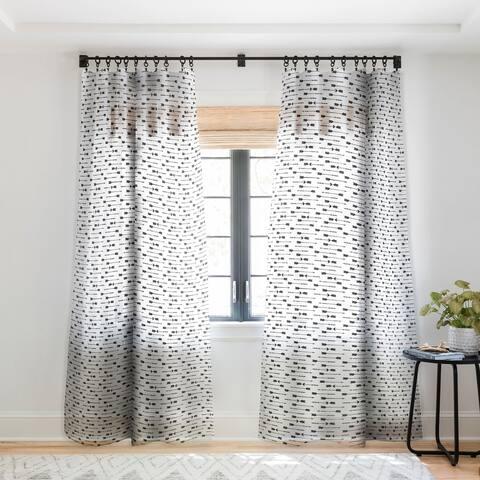 Emanuela Carratoni Vintage Boho Arrows Single Panel Sheer Curtain - 50 X 84