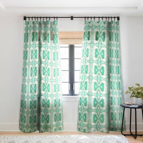 Viviana Gonzalez Agate Inspired Watercolor 07 Single Panel Sheer Curtain - 50 X 84