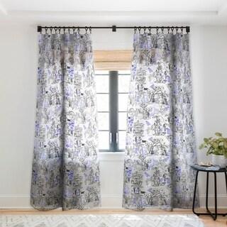 Marta Barragan Camarasa Toile de Jouy Between eras 02 Single Panel Sheer Curtain - 50 x 84