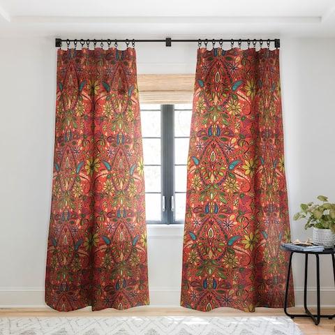 Sharon Turner Aziza Fire Single Panel Sheer Curtain - 50 X 84