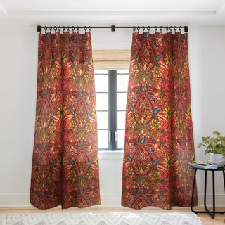 Link to Sharon Turner Aziza Fire Single Panel Sheer Curtain - 50 X 84 Similar Items in Curtains & Drapes