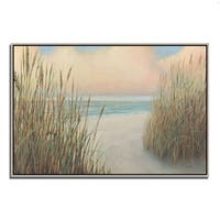 James Wiens 'Beach Trail I' Ready to Hang Fine Art Giclee Print on Gallery Wrapped Canvas
