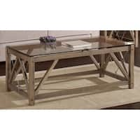 Glass Top Cable Coffee Table