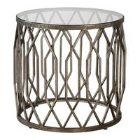 Uttermost Algoma Aged Bronze Glass Accent Table