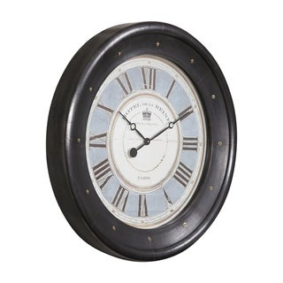 Uttermost Jayden Dark Bronze Wall Clock
