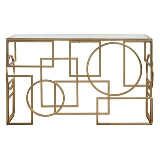 Uttermost Metria Lightly Antiqued Gold Leaf Console Table