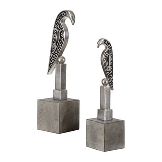 Uttermost Navya Antiqued Silver Sculptures (Set of 2)