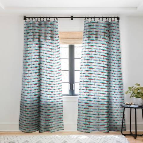Andi Bird Way Cool Single Panel Sheer Curtain - 50 X 84