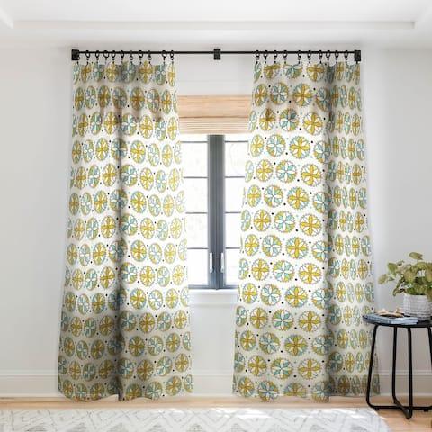 Heather Dutton Cartwheel Single Panel Sheer Curtain - 50 X 84