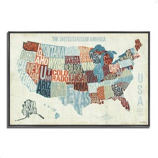 """USA Modern Blue"" by Michael Mullan, Fine Art Giclee Print on Gallery Wrap Canvas, Ready to Hang"