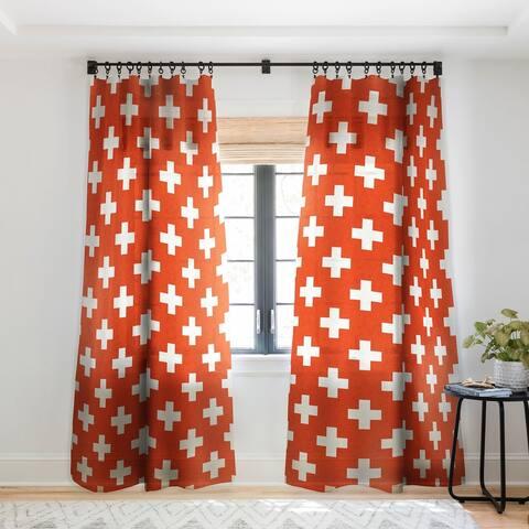 Holli Zollinger Vermillion Plus Single Panel Sheer Curtain - 50 X 84