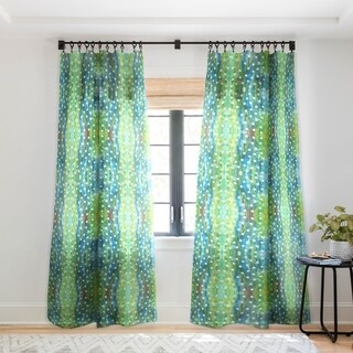 Rosie Brown Dots And Dots Single Panel Sheer Curtain