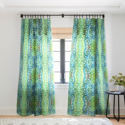 Rosie Brown Dots And Dots Single Panel Sheer Curtain - 50 X 84