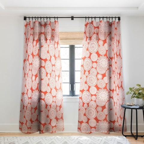 Heather Dutton Delightful Doilies Saffron Single Panel Sheer Curtain - 50 X 84