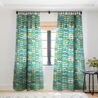 Sharon Turner Sagar Ikat Single Panel Sheer Curtain - 50 X 84