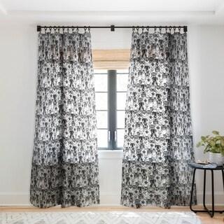 Sharon Turner Just Cats Single Panel Sheer Curtain - 50 x 84