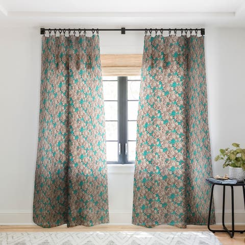 Sharon Turner fish mirage Single Panel Sheer Curtain - 50 X 84