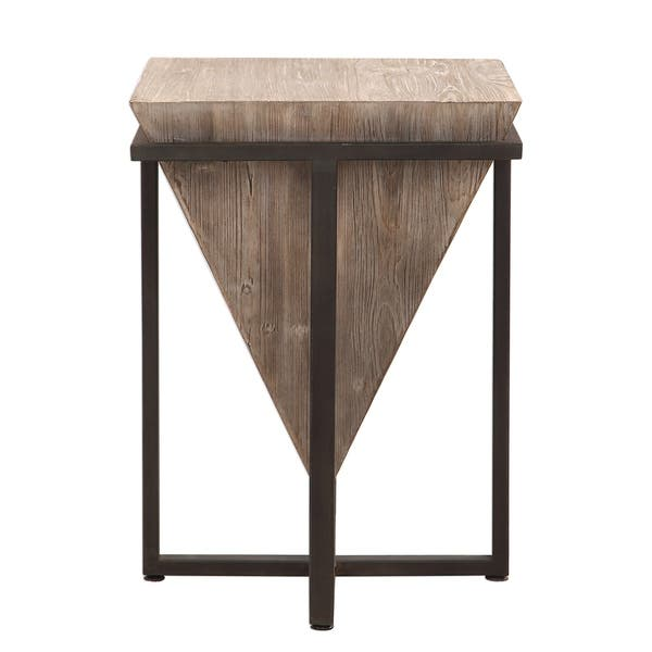 Uttermost Bertrand Aged Black And Grey Wash Wood Accent
