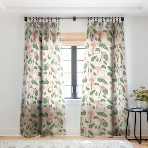 Holli Zollinger Desert Moonflower Single Panel Sheer Curtain - 50 X 84