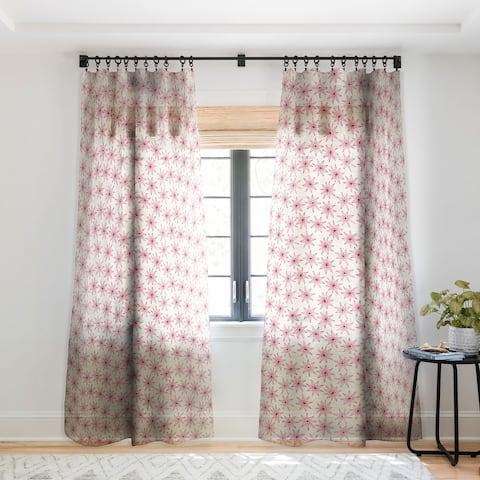 Sharon Turner Sema Cream Single Panel Sheer Curtain - 50 X 84