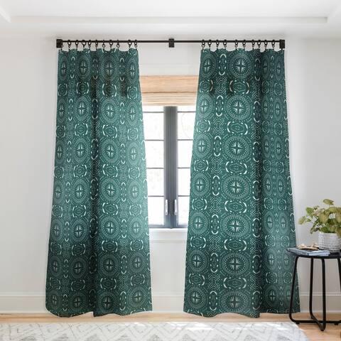 Holli Zollinger Mandala Tile Marine Single Panel Sheer Curtain - 50 x 84