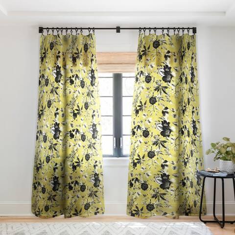 Marta Barragan Camarasa Two tone bloom Single Panel Sheer Curtain - 50 x 84