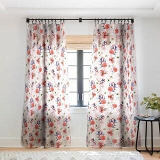 Marta Barragan Camarasa Flowery american flamingos Single Panel Sheer Curtain - 50 x 84