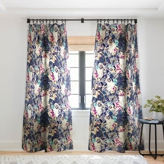 Marta Barragan Camarasa Floral Bohemian Skull Pattern Single Panel Sheer Curtain