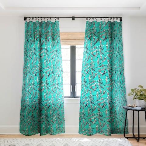Sharon Turner Dog Party Single Panel Sheer Curtain - 50 x 84