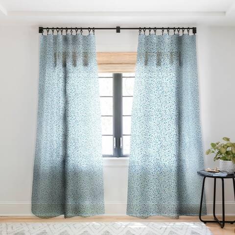Ninola Design Baby Bubbles Dream Soft Blue Circles Single Panel Sheer Curtain - 50 x 84