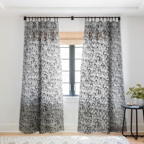 Sharon Turner Women Of The World Single Panel Sheer Curtain - 50 x 84