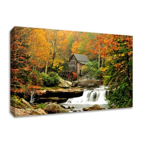"""The Old Mill"", Fine Art Giclee Print on Gallery Wrap Canvas, Ready to Hang"