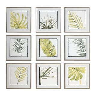 Uttermost Verdant Impressions Leaf Prints (Set of 9) - Green/White
