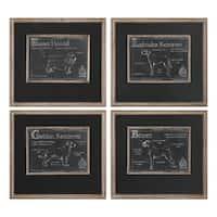 Uttermost Canis Lupus Familiaris Prints (Set of 4) - Multi-color