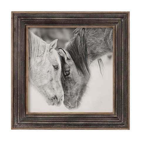 Uttermost Custom Black and White Horses Print