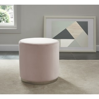 Link to Opus-Velvet Ottoman with Silver Base Similar Items in Cocktail Ottomans
