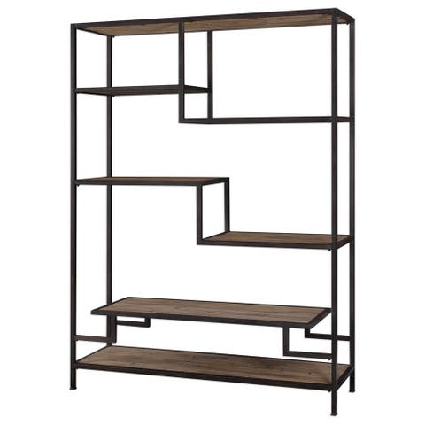 Uttermost Sherwin Aged Black Industrial Etagere