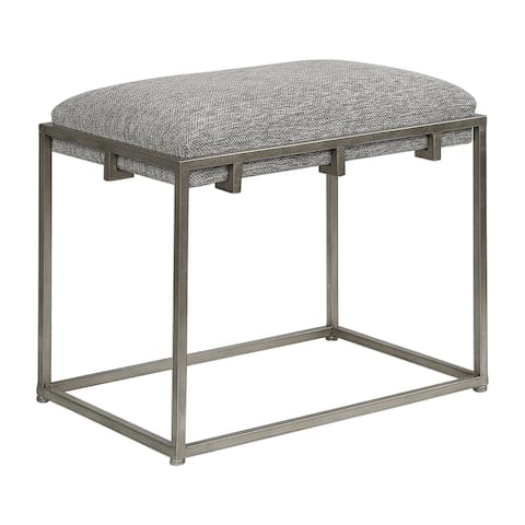 Uttermost Edie Ash Grey Small Bench