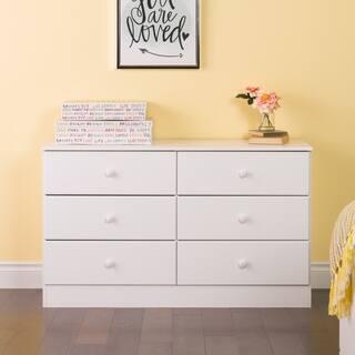 Bella 6-Drawer Dresser, White