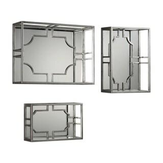 Uttermost Adoria Light Antiqued Silver Wall Shelves (Set of 3)