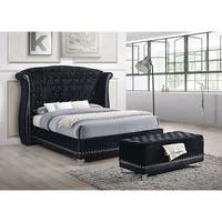 Barzini Black Upholstered Bed