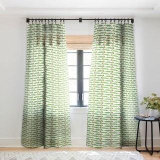 Andi Bird Gator Love Single Panel Sheer Curtain - 50 x 84