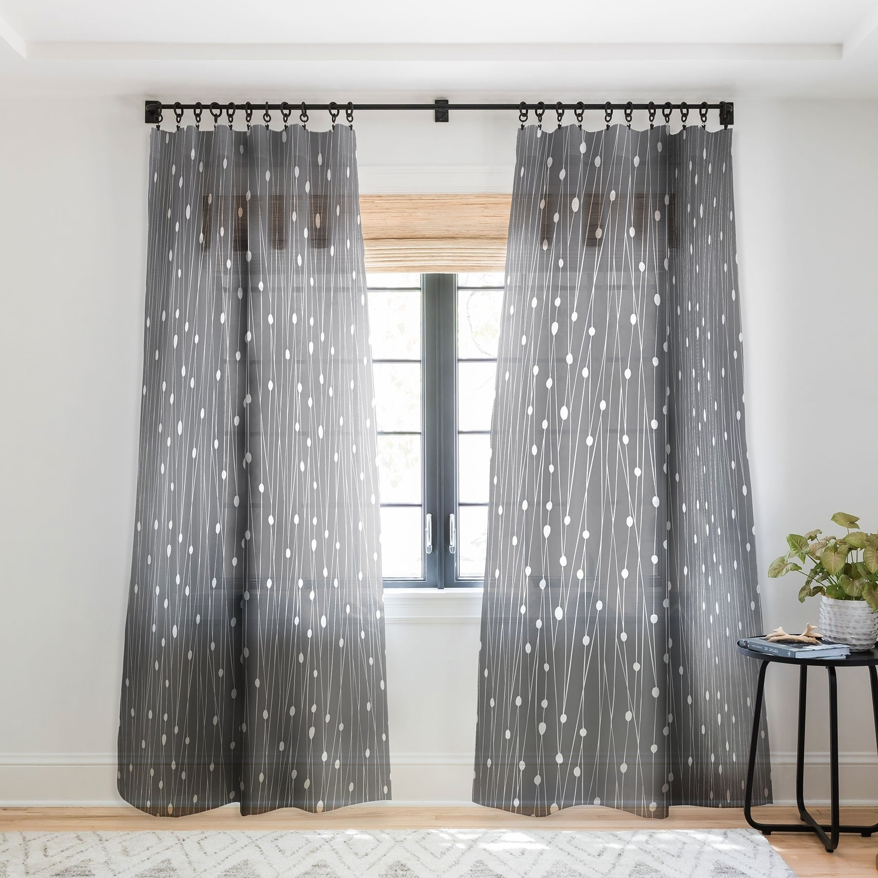 Heather Dutton Gray Entangled Single Panel Sheer Curtain 50 X 84 On Sale Overstock 22043471