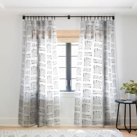 Bianca Green Weapons Of Mass Creation White Single Panel Sheer Curtain - 50 x 84