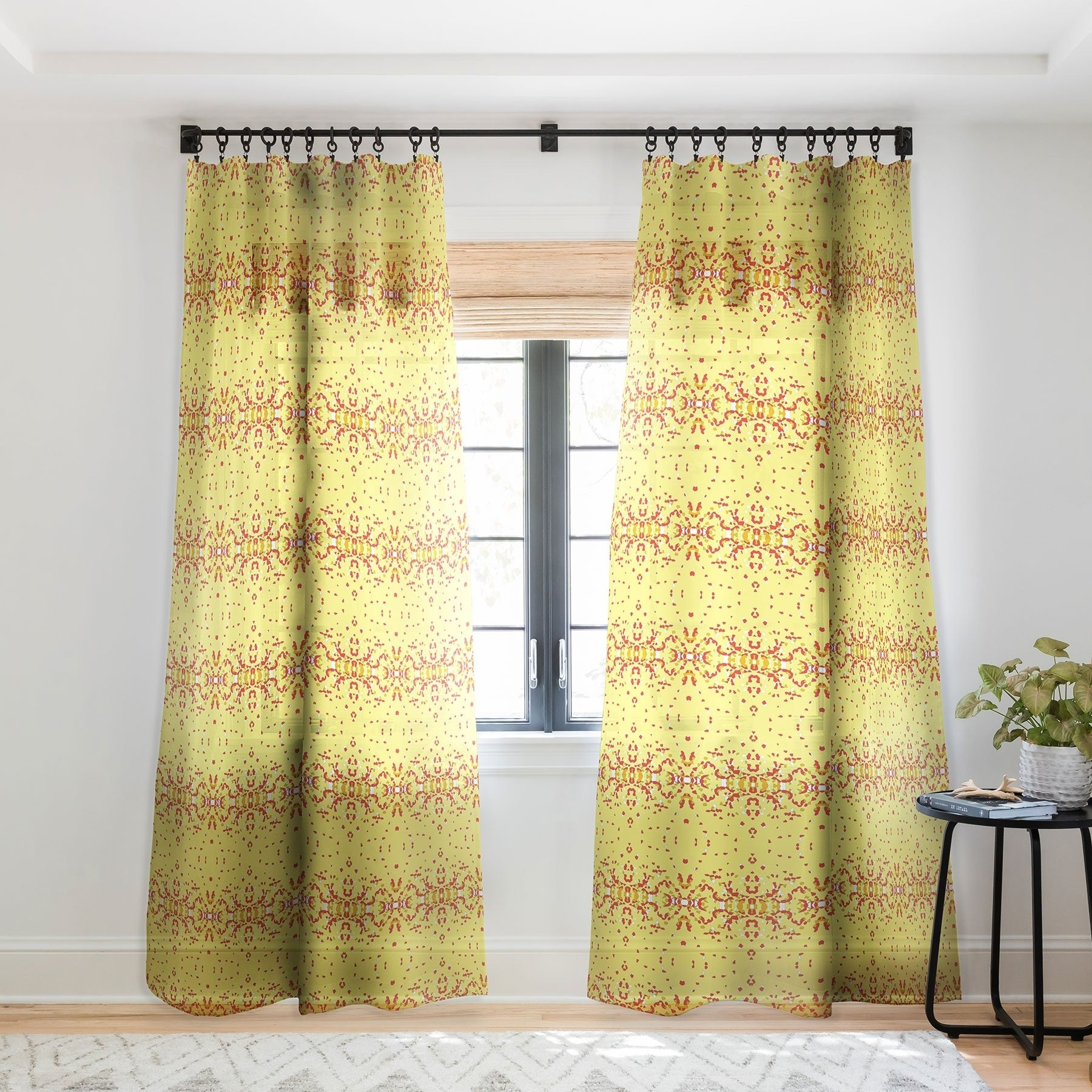 Rosie Brown Shredded Pieces Single Panel Sheer Curtain 50 X 84 On Sale Overstock 22043493