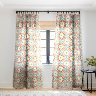 Heather Dutton Crazy Daisy Sorbet Single Panel Sheer Curtain