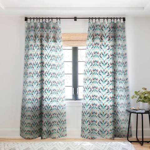Holli Zollinger Malibu Ikat Single Panel Sheer Curtain - 50 x 84