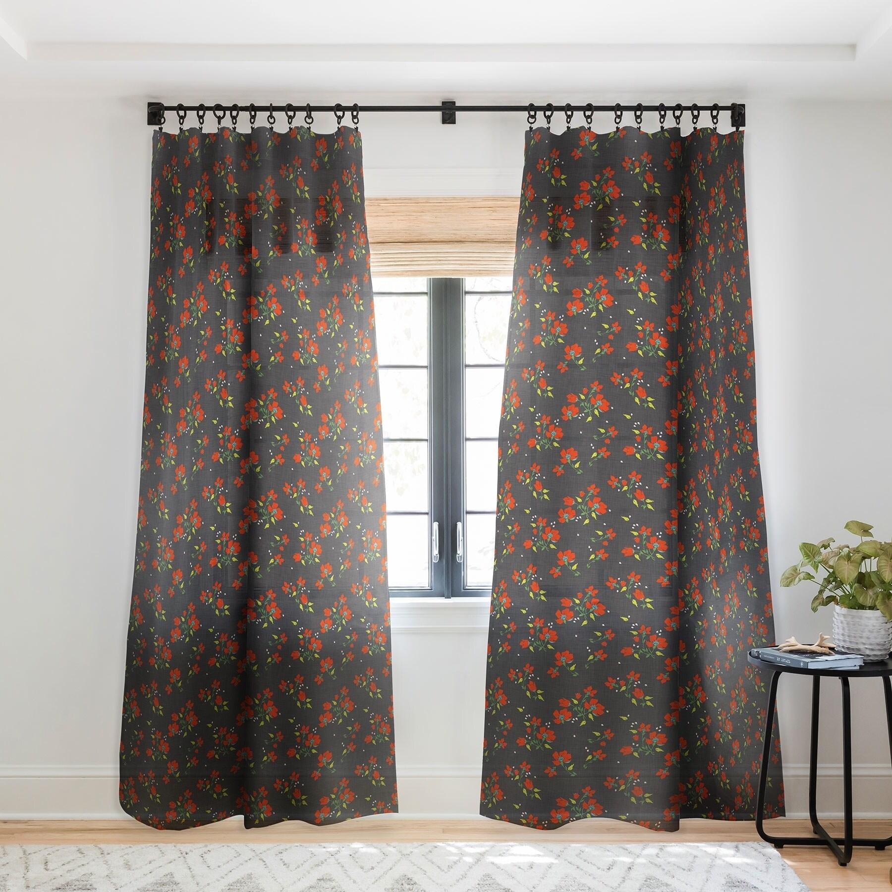 Holli Zollinger Bohemian Farmhouse Floral Single Panel Sheer Curtain 50 X 84 On Sale Overstock 22043515